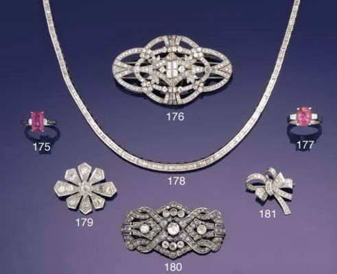 A baguette diamond necklace