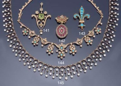 A LATE VICTORIAN TURQUOISE AND