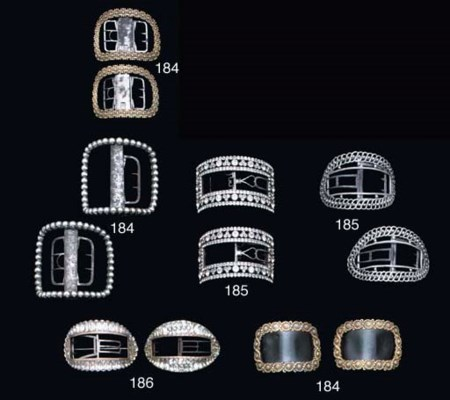 FIVE PAIRS OF PASTE SET BUCKLE