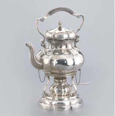 AN ITALIAN KETTLE-ON-STAND WIT