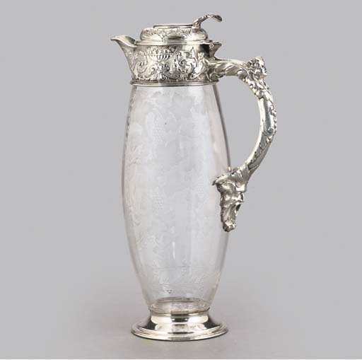 A VICTORIAN SILVER-MOUNTED ENG