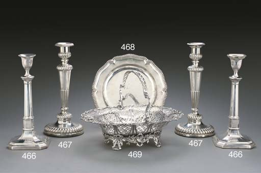 A PAIR OF GEORGE III SILVER CA