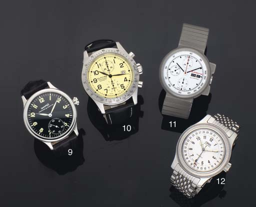 A Group of Three Stainless Steel Wristwatches