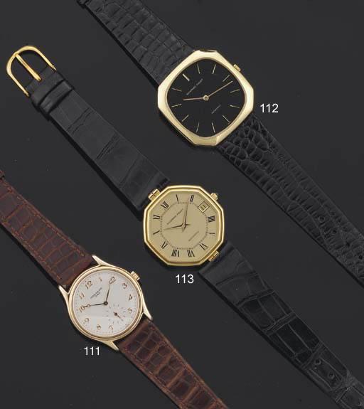 Audemars Piguet. An 18ct Gold Octagonal Automatic Wristwatch with date