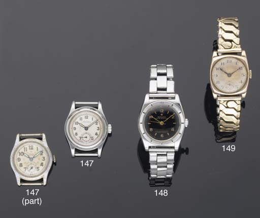 Rolex. A Stainless Steel Water Resistant Wristwatch