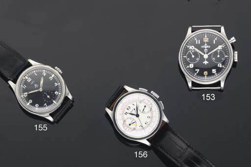 Jaeger. A Stainless Steel Chronograph Wristwatch