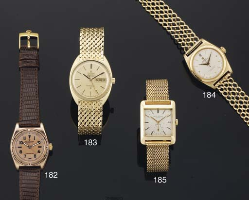Omega. An 18ct Gold Automatic Water Resistant Centre Seconds Wristwatch on Associated  Bracelet with Day and Date