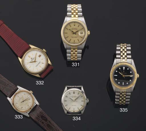 Rolex. A 9ct Gold Automatic Centre Seconds Wristwatch with Calendar