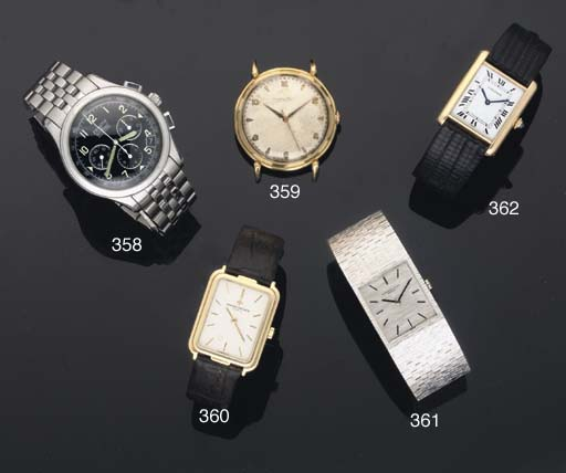 Cartier. An 18ct Gold Rectangular Cased Wristwatch
