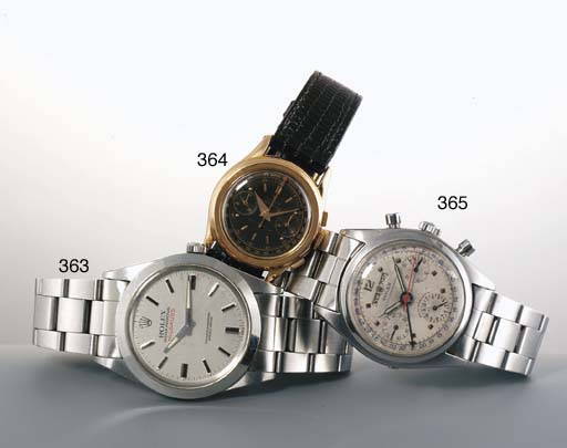 Rolex. A Fine and Rare Stainless Steel Automatic Water Resistant Anti-Magnetic Centre Seconds Wristwatch on Bracelet