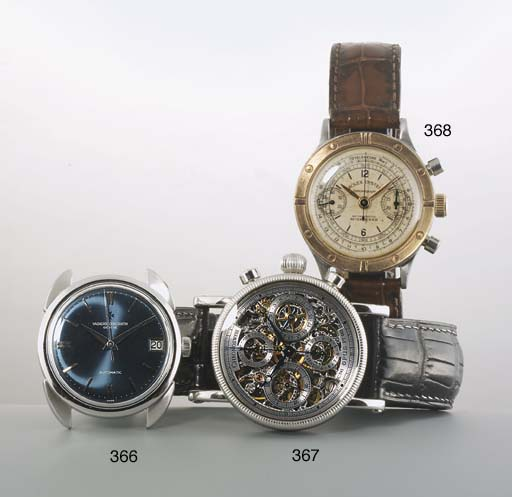 Chronoswiss. A Platinum Skeletonised Automatic Chronograph Wristwatch
