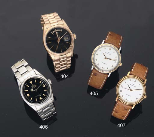 Rolex. A stainless Steel Water Resistant Centre Seconds Automatic Wristwatch on Bracelet