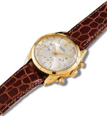 Rolex. A fine 18K gold waterpr