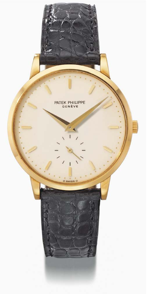 Patek Philippe. An 18K gold wr