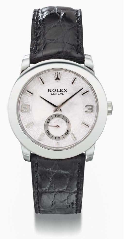 Rolex. A fine platinum wristwa