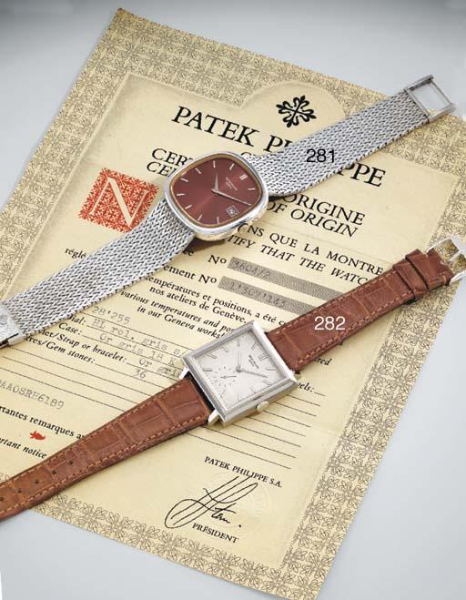 Patek Philippe. A fine 18K whi