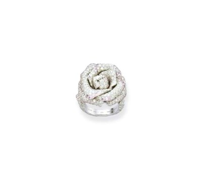 A DIAMOND ROSE RING, BY CHRIST