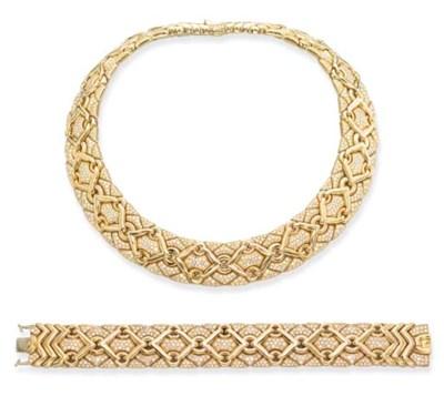 A GOLD AND DIAMOND 'TRIKA' NEC