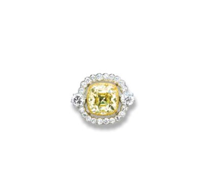 A FANCY INTENSE YELLOW DIAMOND