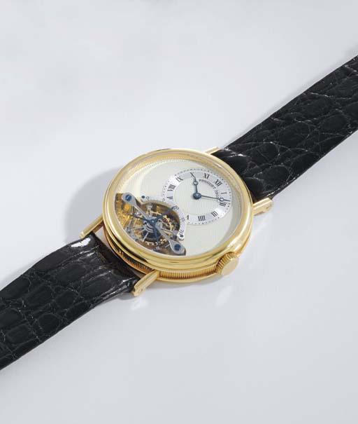 Breguet. A fine 18K gold one minute tourbillon wristwatch