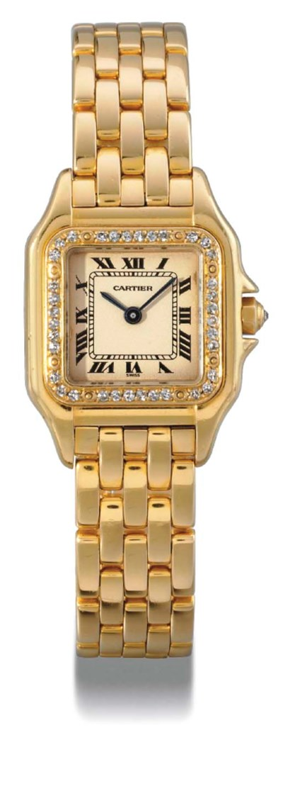 Cartier. A ladies 18K gold and