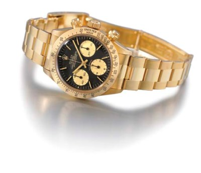 Rolex. A fine 18K gold waterpr