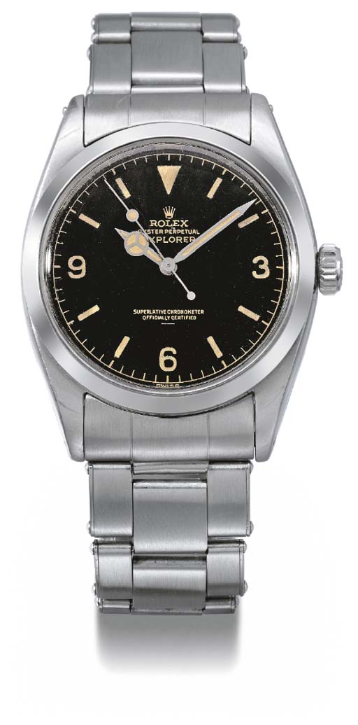Rolex. A stainless steel self-winding waterproof wristwatch with sweep centre seconds and bracelet