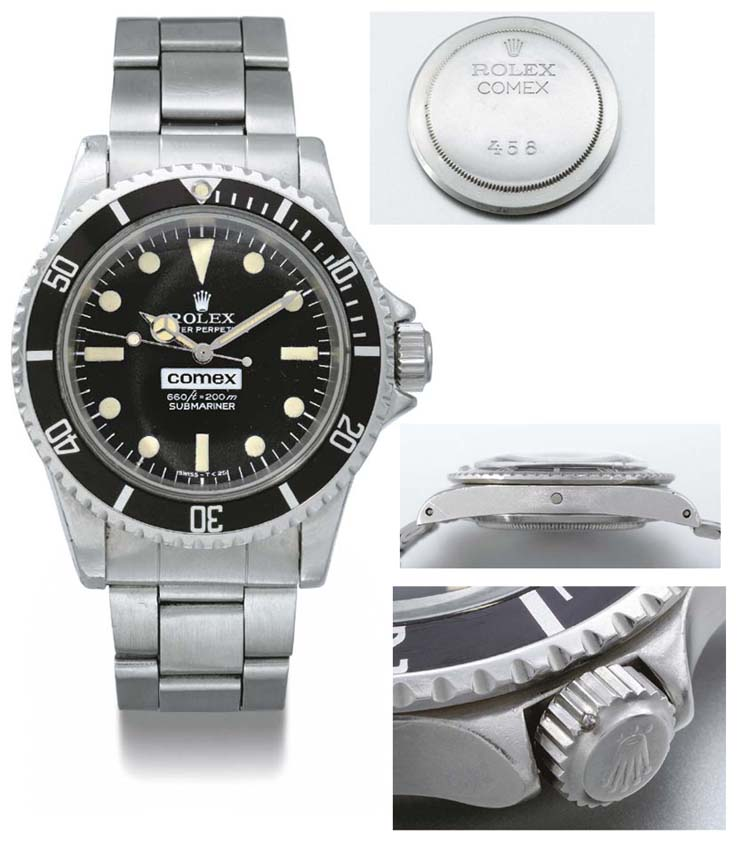 Rolex. A rare stainless steel self-winding waterproof wristwatch with sweep centre seconds, bracelet and gas escape valve, made for COMEX