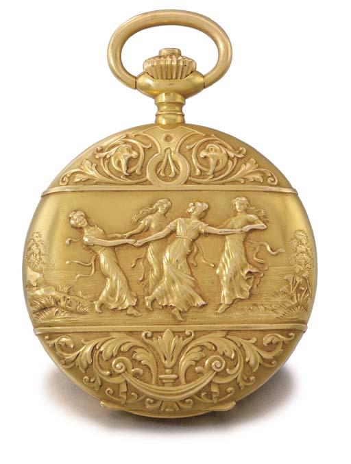 Vacheron Constantin. A fine 18K gold hunter case keyless lever watch