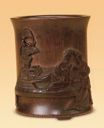 A FINELY CARVED 'TWO LADIES' B