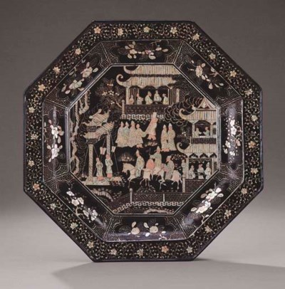 A RARE MOTHER-OF-PEARL INLAID