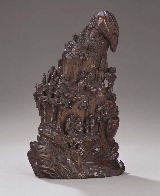 A CARVED BAMBOO MOUNTAIN