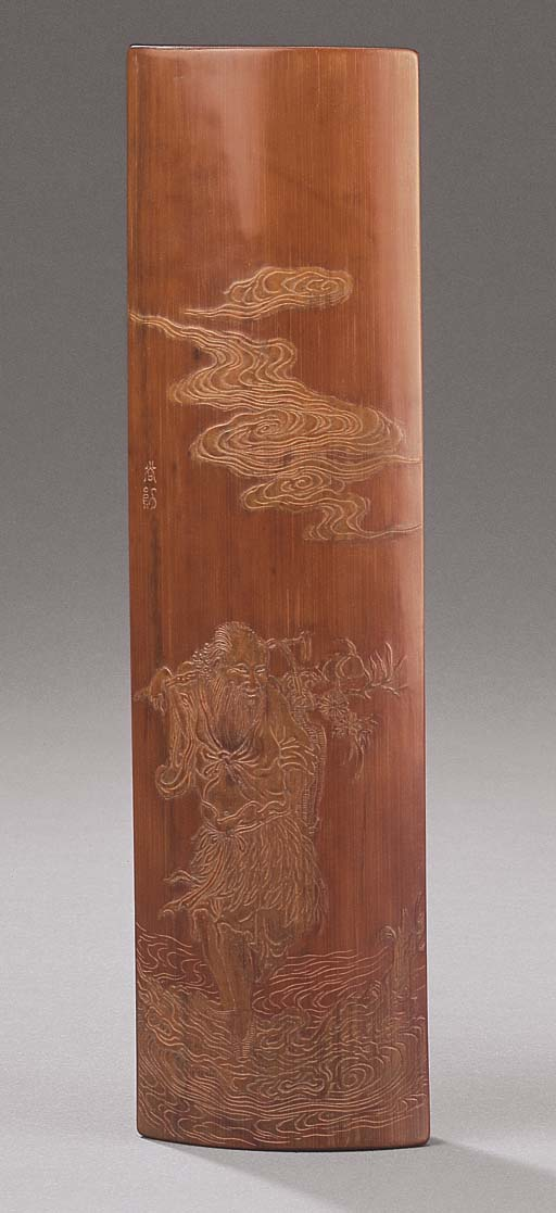 A FINELY CARVED BAMBOO WRIST-R