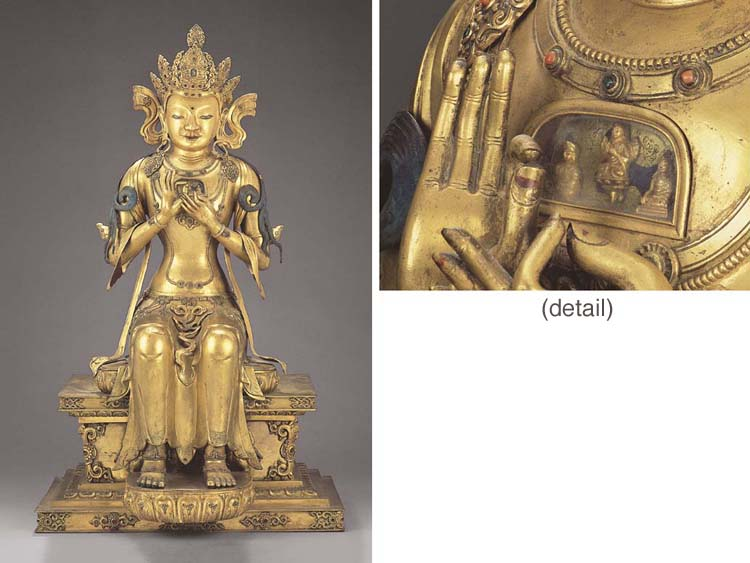 AN EXTREMELY RARE LARGE GILT-C