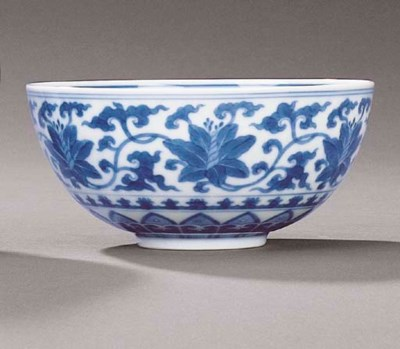 A MING-STYLE BLUE AND WHITE BO