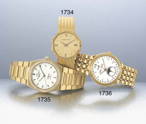 IWC. AN 18K GOLD AND DIAMOND-S