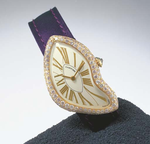 CARTIER. A RARE LADY'S 18K PIN
