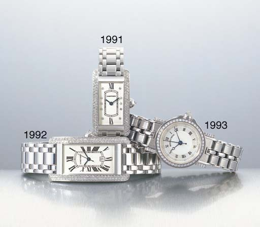 CARTIER. AN 18K WHITE GOLD AND