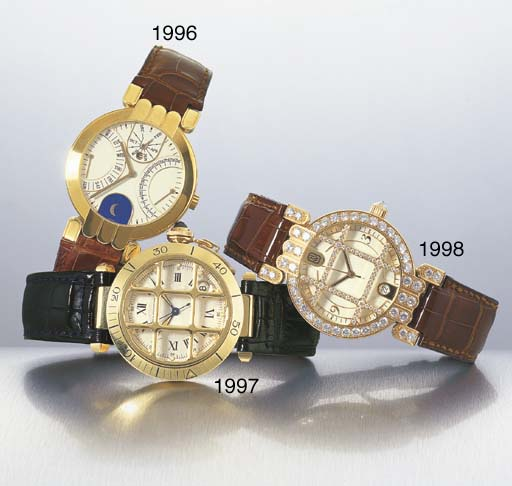 HARRY WINSTON. AN 18K GOLD AND