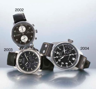 IWC. A LARGE STAINLESS STEEL S