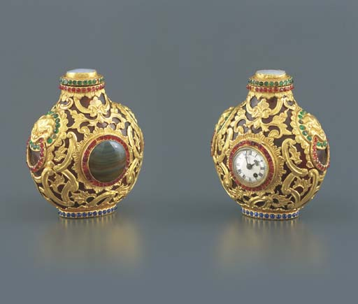 CHINESE. A FINE GOLD, AMBER, M