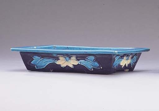 A MING FAHUA RECTANGULAR TRAY