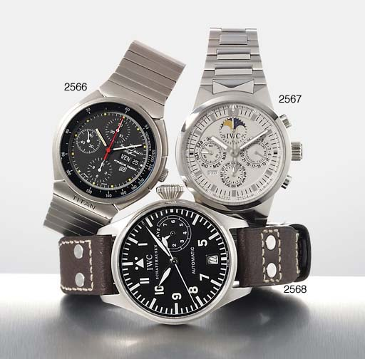 IWC. AN OVERSIZED STAINLESS STEEL AUTOMATIC PILOT'S WRISTWATCH WITH SWEEP CENTRE SECONDS, DATE AND 7-DAY POWER RESERVE