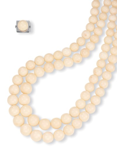 ** A SUITE OF WHITE CORAL JEWE