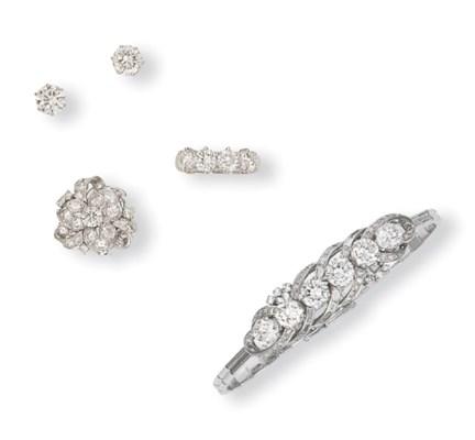 TWO SETS OF DIAMOND JEWELLERY