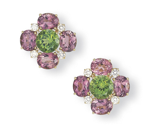 A PAIR OF PINK TOURMALINE, PER
