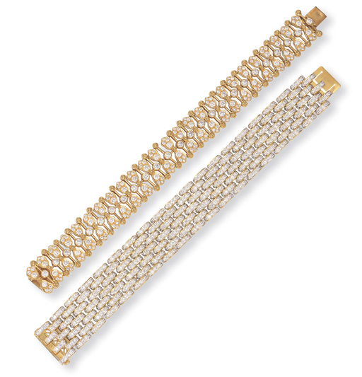 TWO DIAMOND BRACELETS
