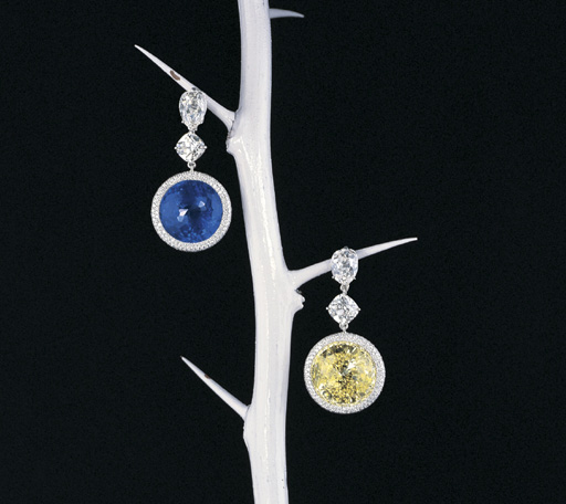 A MAGNIFICENT PAIR OF SAPPHIRE