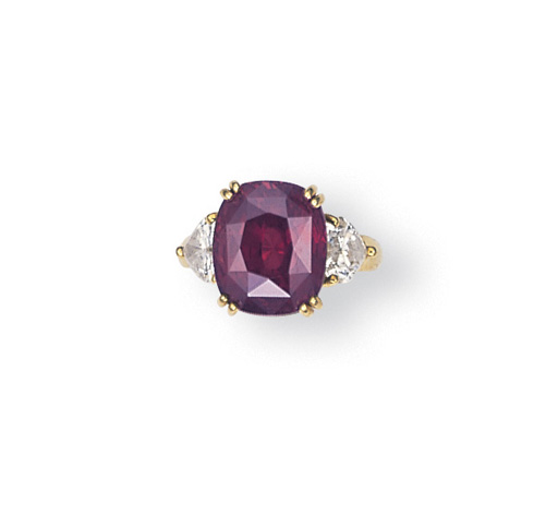 AN ALEXANDRITE AND DIAMOND RING, BY GRAFF