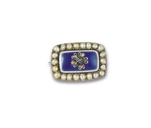 A GEORGIAN DIAMOND, BLUE ENAME